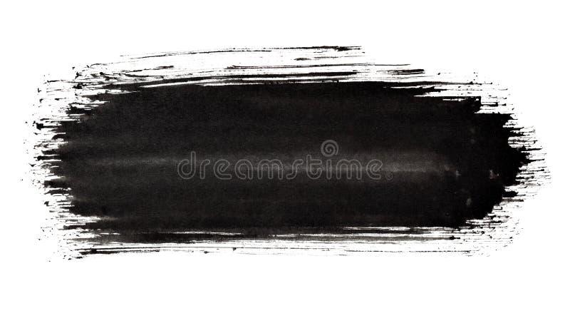 Course noire de pinceau illustration stock