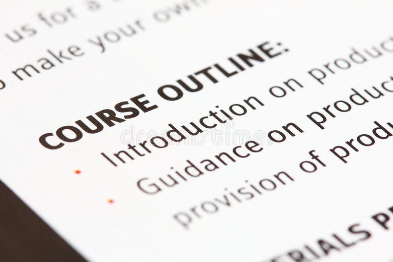 Download Course outline stock photo. Image of closeup, explanation - 20641964