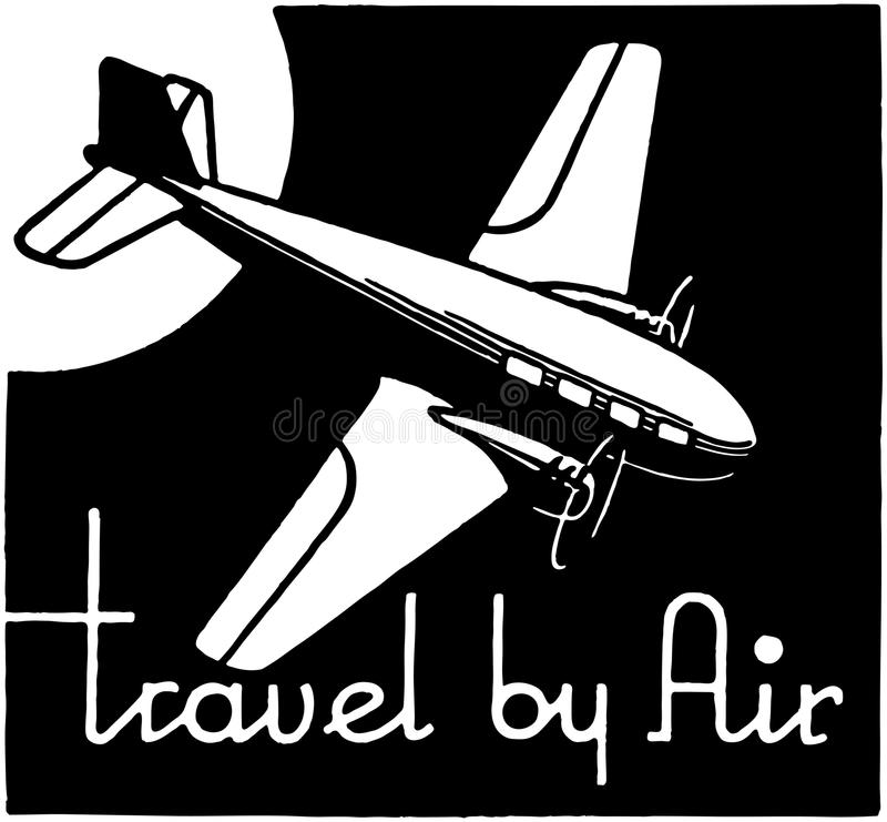 Course par avion illustration stock