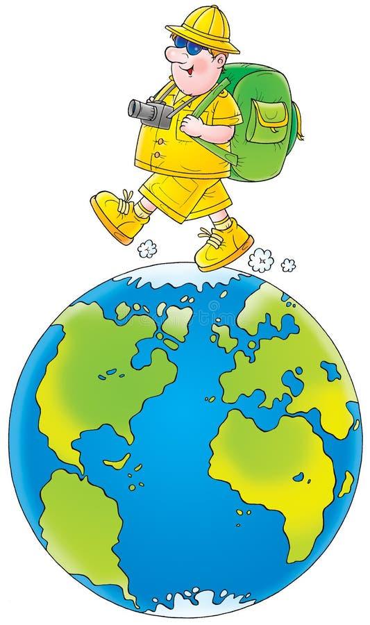 Course partout dans le monde illustration de vecteur