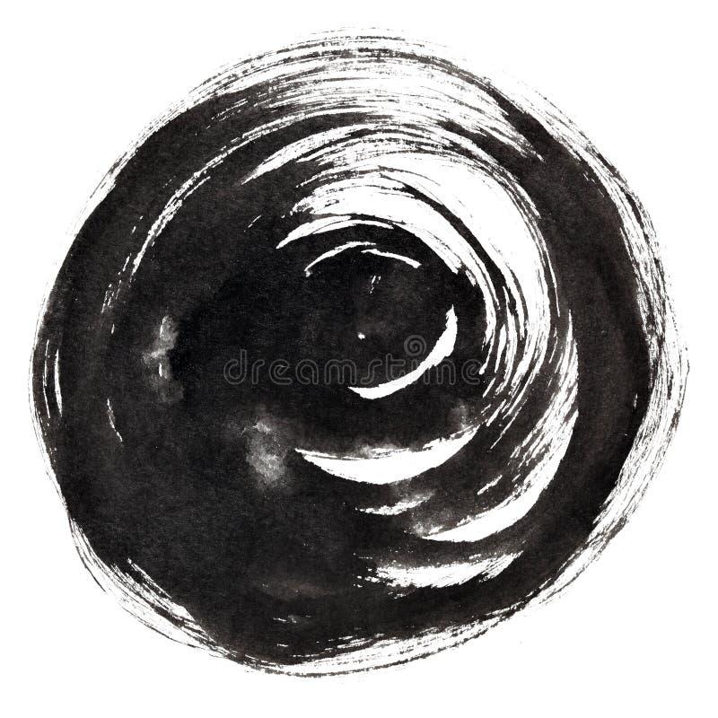 Course ronde à l'encre noire de brosse illustration libre de droits
