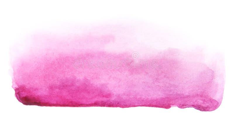 Course rose pourpre artistique de brosse d'aquarelle illustration libre de droits