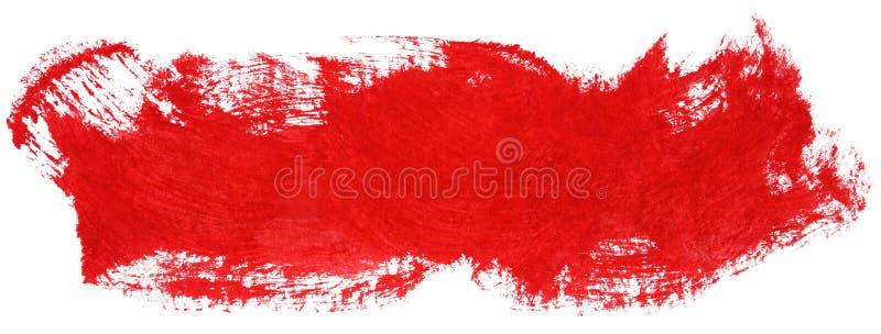 Course rouge de pinceau de gouache illustration de vecteur