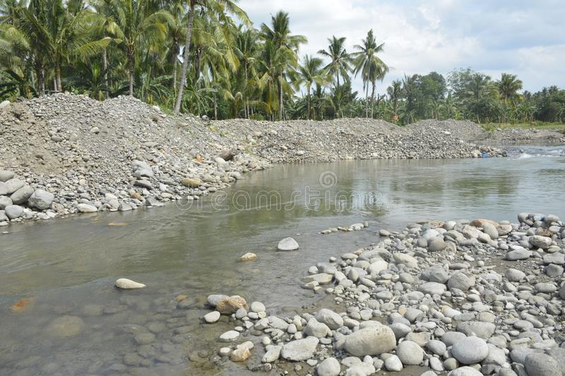 Course Sand at Mal riverbed, Matanao, Davao del Sur, Philippines. This photo shows the course sand at Mal riverbed, Matanao, Davao del Sur, Philippines stock images