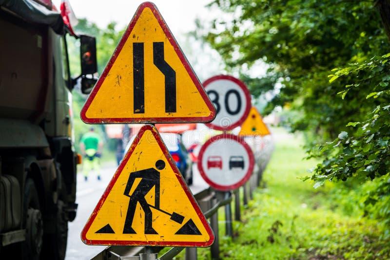 Course sur route d'été Renouvellement de route photo libre de droits
