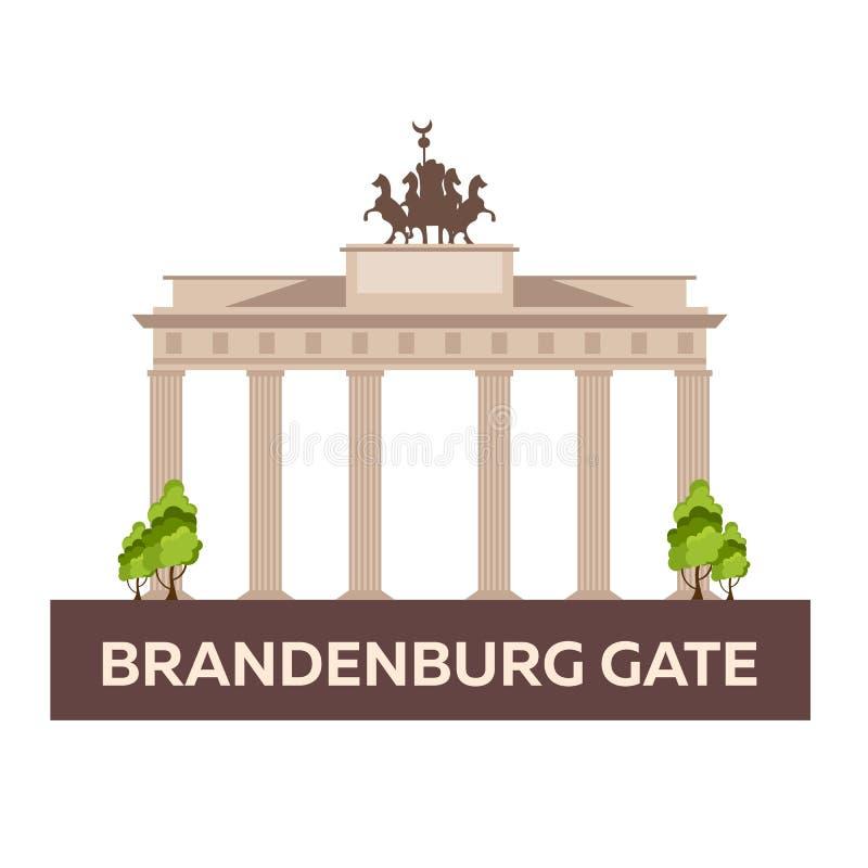Course vers l'Allemagne Porte de Brandebourg Illustration de vecteur illustration libre de droits