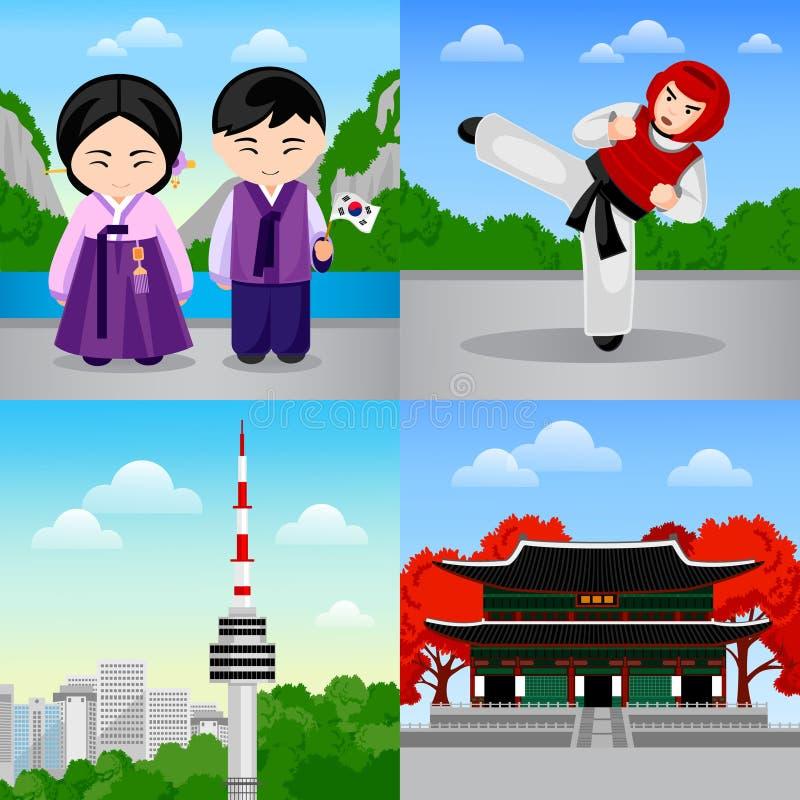 Course vers la Corée du Sud illustration stock