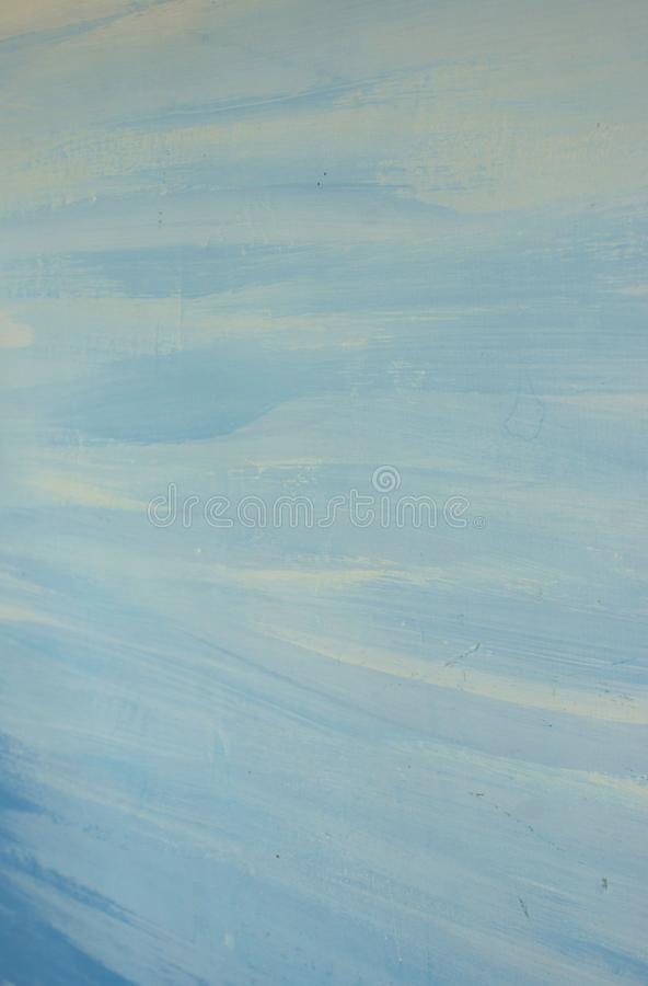 Courses abstraites bleues de peinture à l'huile de fond de différentes nuances image stock