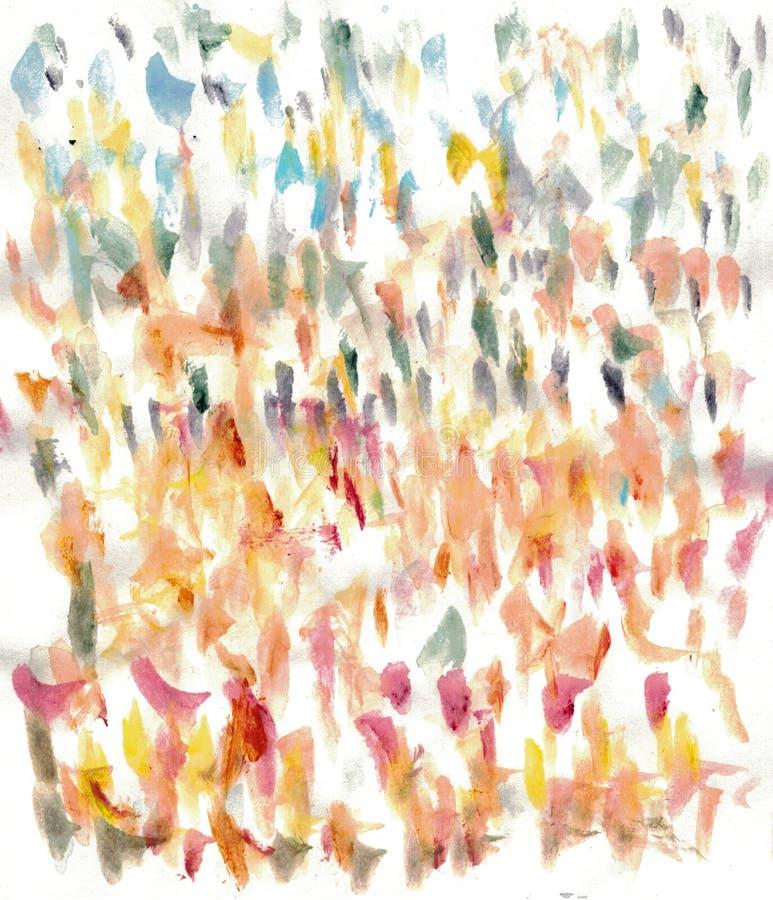 Courses abstraites de brosse d'aquarelle illustration stock