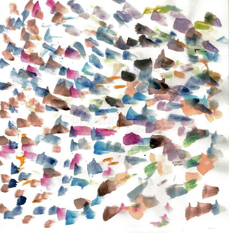Courses abstraites de brosse d'aquarelle illustration de vecteur