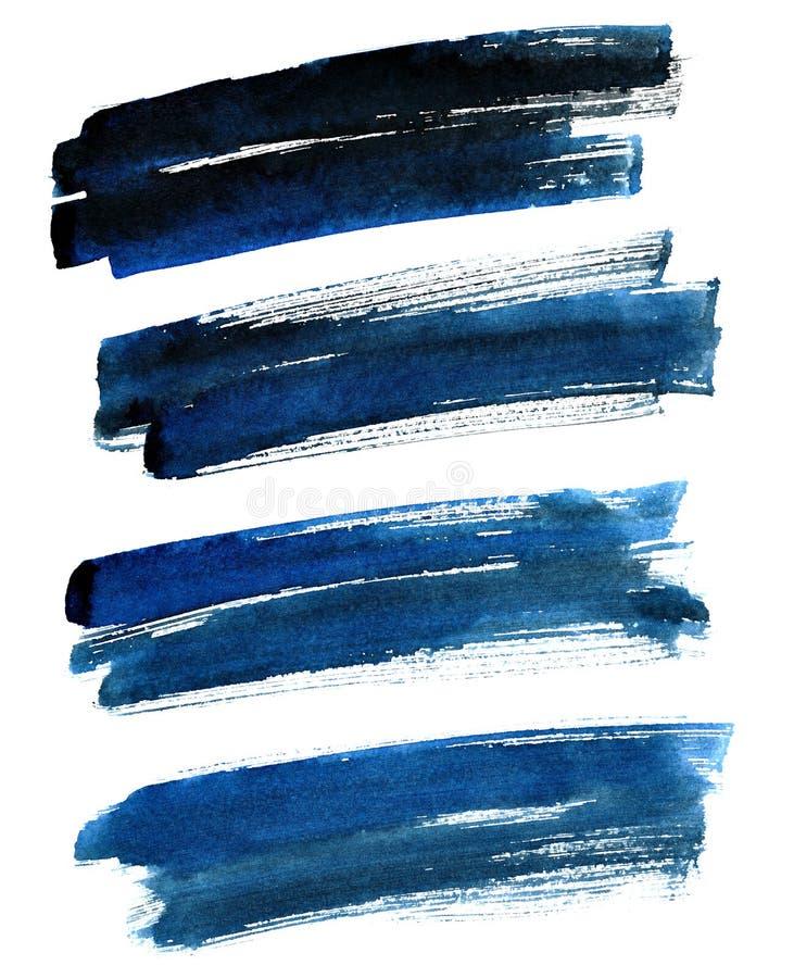 courses audacieuses Noir-bleues de brosse illustration libre de droits