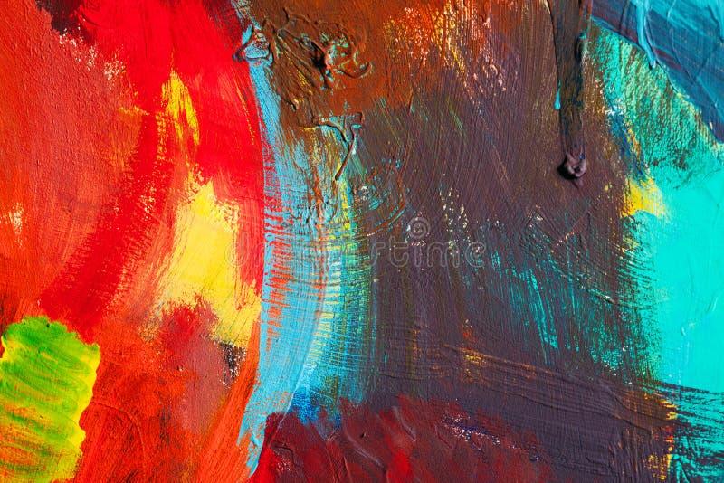 Courses color es de peinture fond d 39 art abstrait d tail d for Art contemporain abstrait