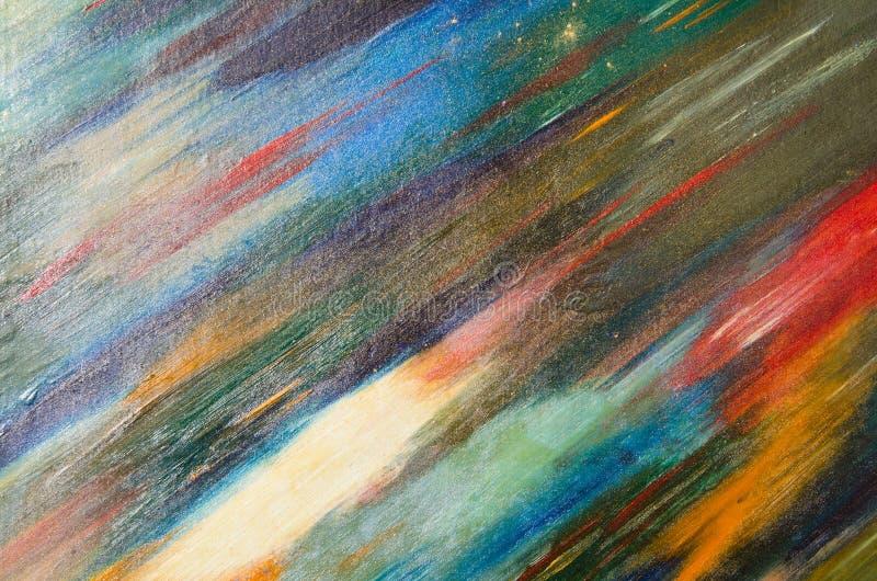Courses courtes colorées d'aquarelle sur la toile image libre de droits