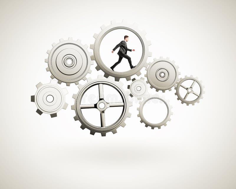 Courses d'homme d'affaires dans des vitesses illustration stock