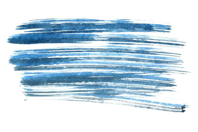 Courses de brosse d'encre bleue illustration libre de droits