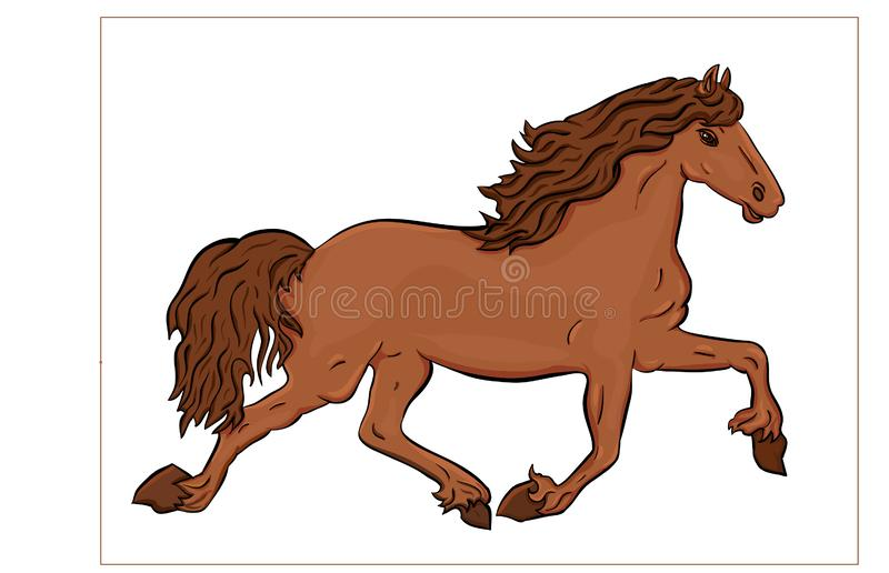 Courses de cheval illustration libre de droits