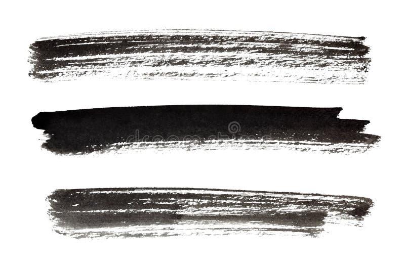 Courses de peinture noire illustration stock