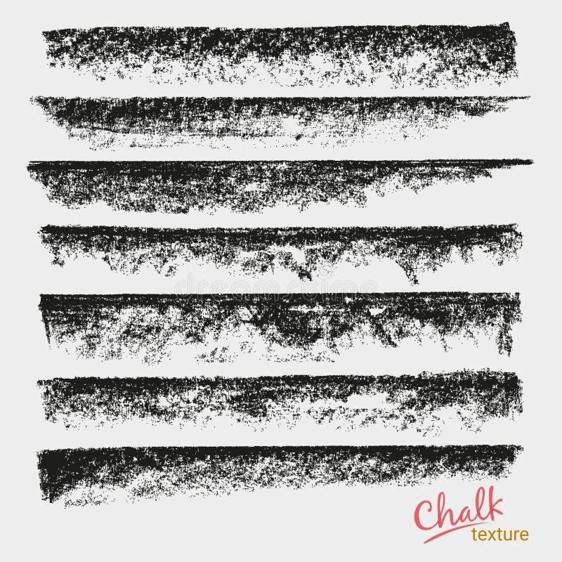 Courses dynamiques de vecteur Texture grunge de craie Brosse artistique large illustration libre de droits