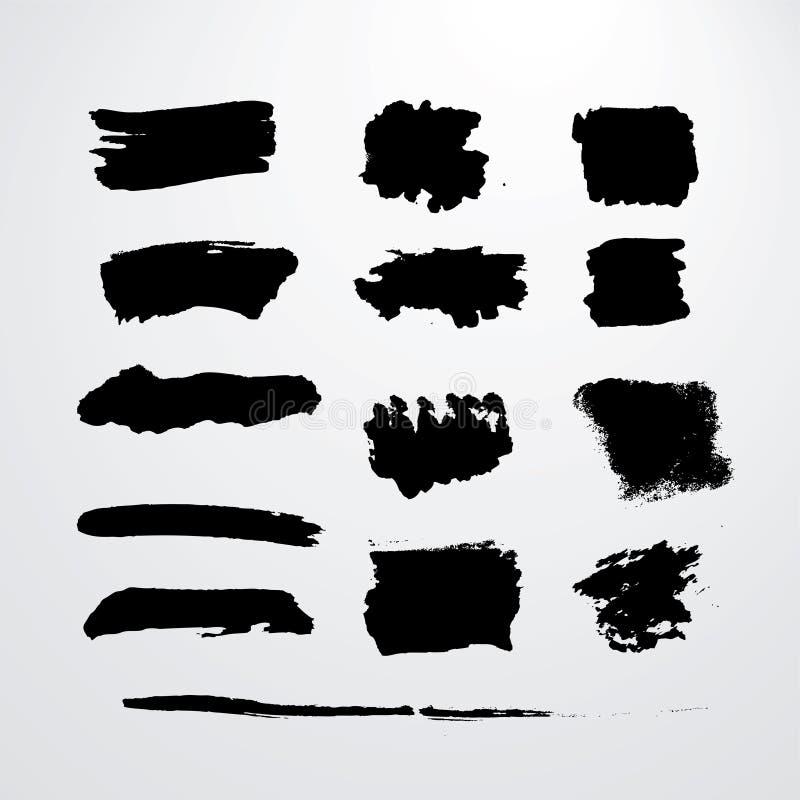 Courses grunges de brosse illustration libre de droits