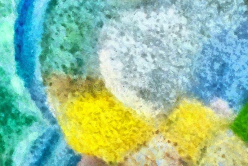 Courses multicolores de brosse en structure d'huile Texture grunge de médias mélangés de beaux-arts Fond détaillé artistique Inté illustration libre de droits