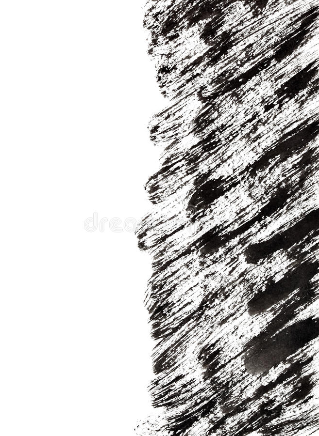 Courses noires de brosse avec le bord illustration de vecteur