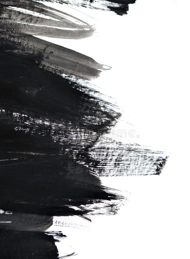 Courses noires de brosse sur le livre blanc photo stock