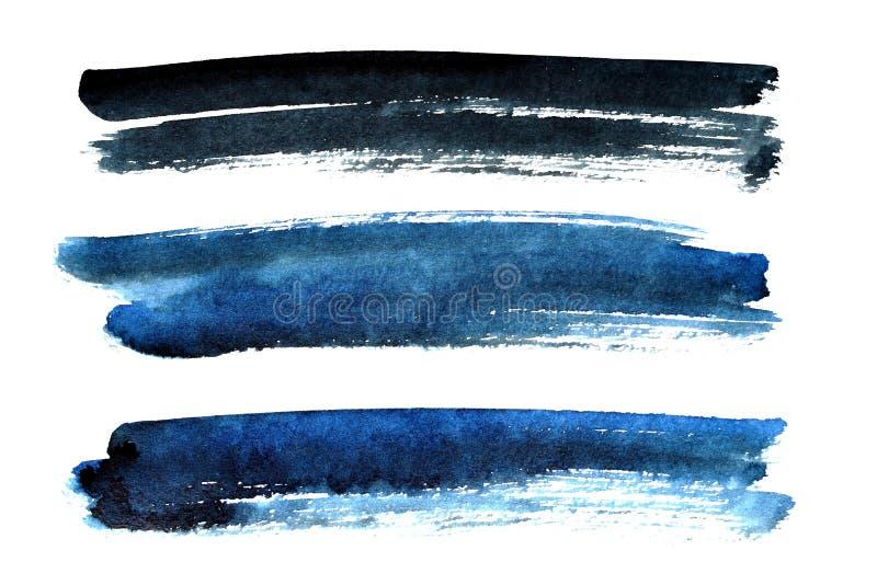 Courses noires et bleues de brosse illustration de vecteur