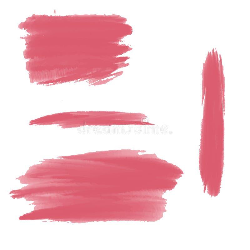 Courses roses de brosse illustration de vecteur