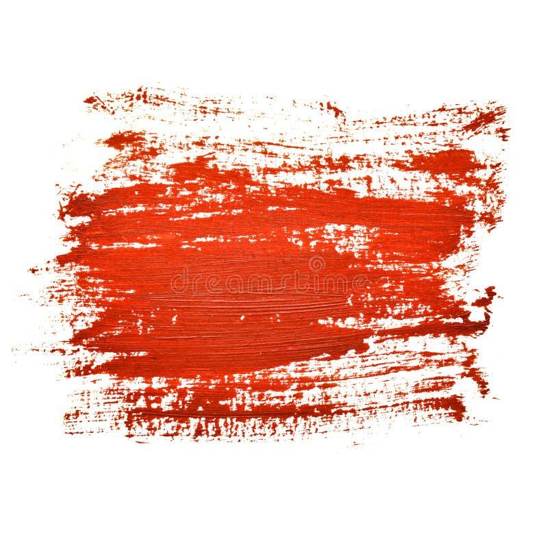 Courses rouges de brosse illustration libre de droits