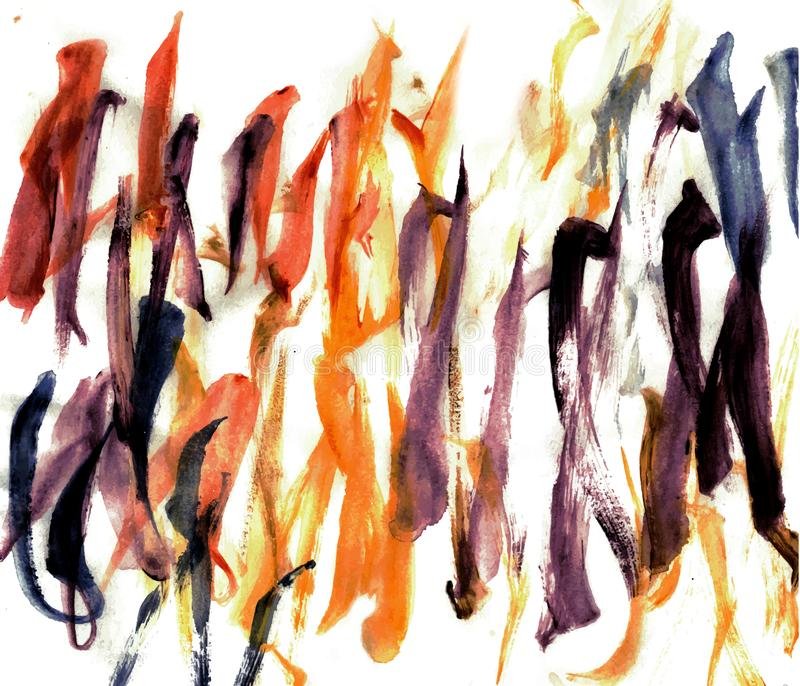 Courses verticales de brosse abstraite d'aquarelle illustration stock