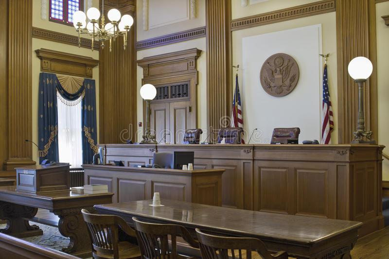 Court of Appeals Courtroom 2 royalty free stock image