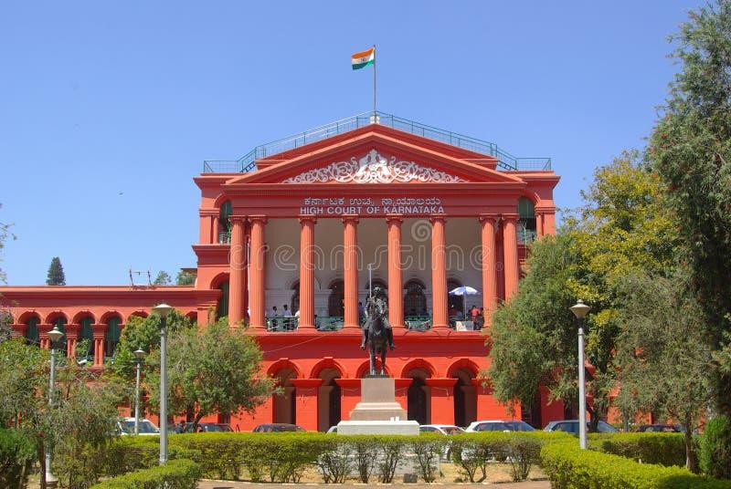 Court building Bengaluru, state of Karnataka, India. Red coloured Karnataka High Court Bengaluru stock photos
