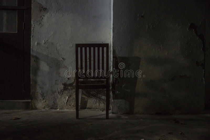 The court chair. Abandoned chair in Galle court royalty free stock photography