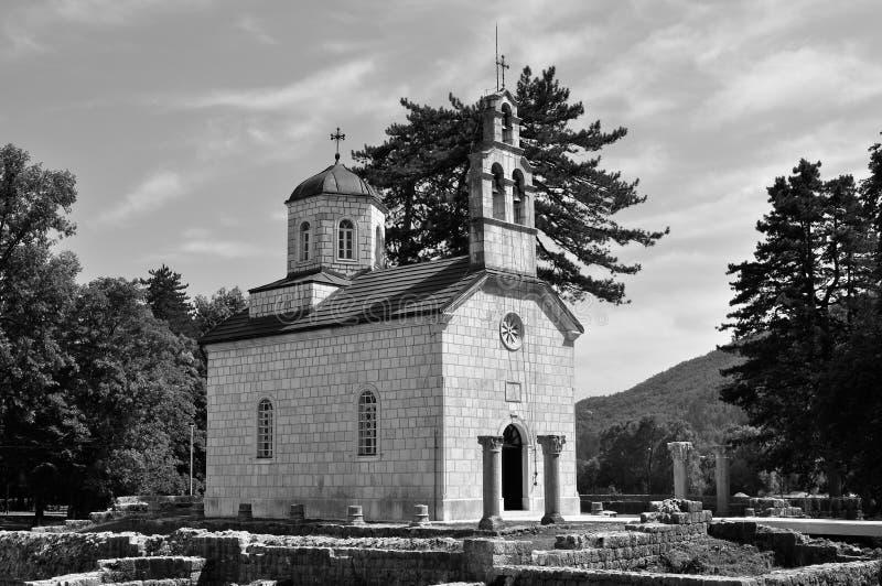 Court Church in black and white - Cetinje - Montenegro stock photos