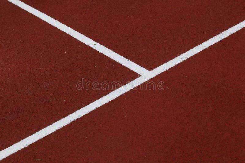 Court de tennis d'argile rouge photo stock