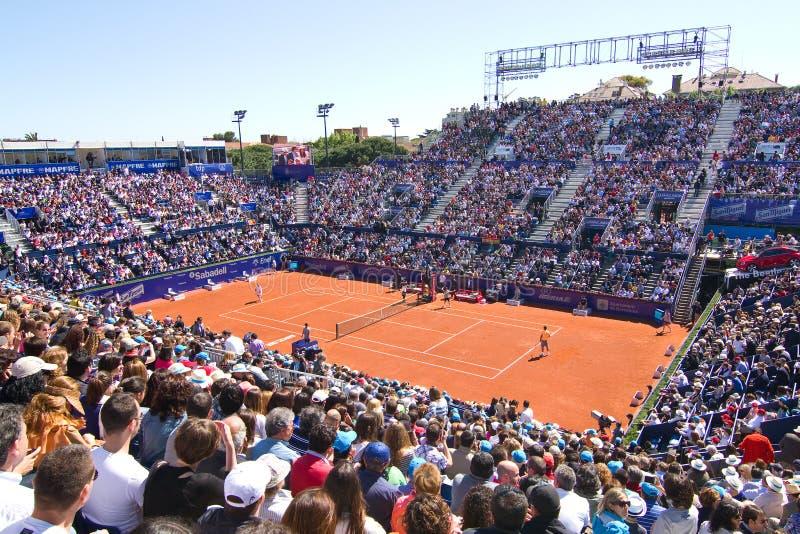 Court de tennis de Barcelone images libres de droits