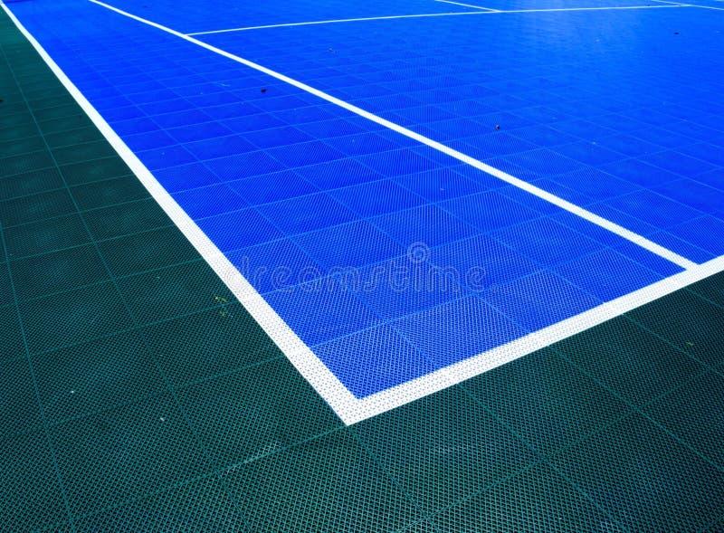 Court de tennis de puzzle images stock