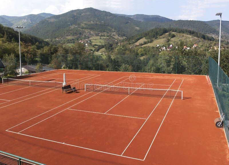 Court de tennis vide photographie stock libre de droits