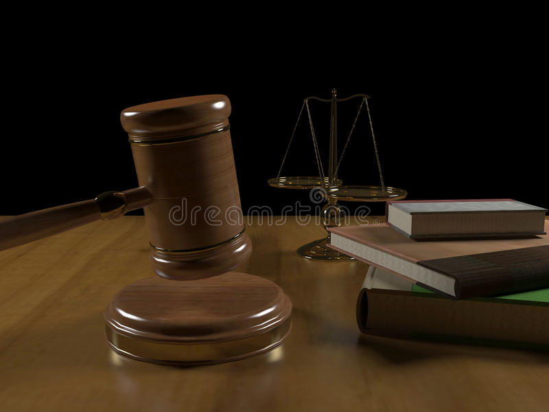 Court gavel stock photo