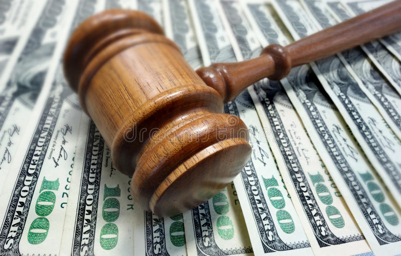 Court Gavel And Money Royalty Free Stock Photography
