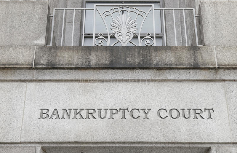 Court house. Exterior of a Bankruptcy Court building stock photos