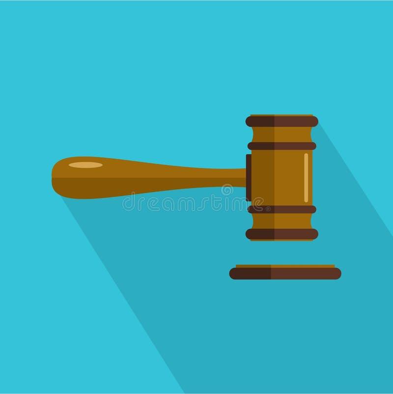 Court icon, flat style. Court icon. Flat illustration of court icon for web vector illustration