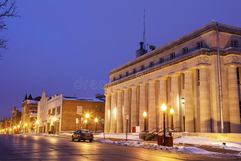 Court in Jefferson City. Seen early morning. Jefferson City, Missouri, USA stock images