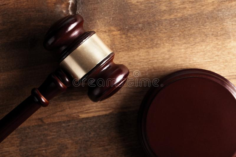 Court. Lawyer gavel room rights closeup trial royalty free stock images
