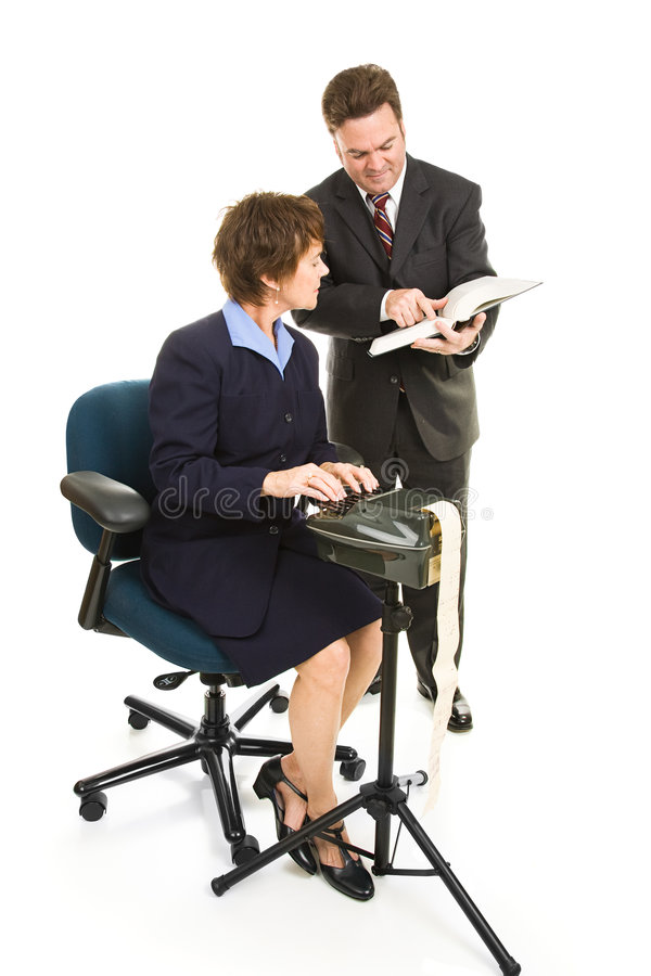 Free Court Reporter And Lawyer Royalty Free Stock Photos - 7683848