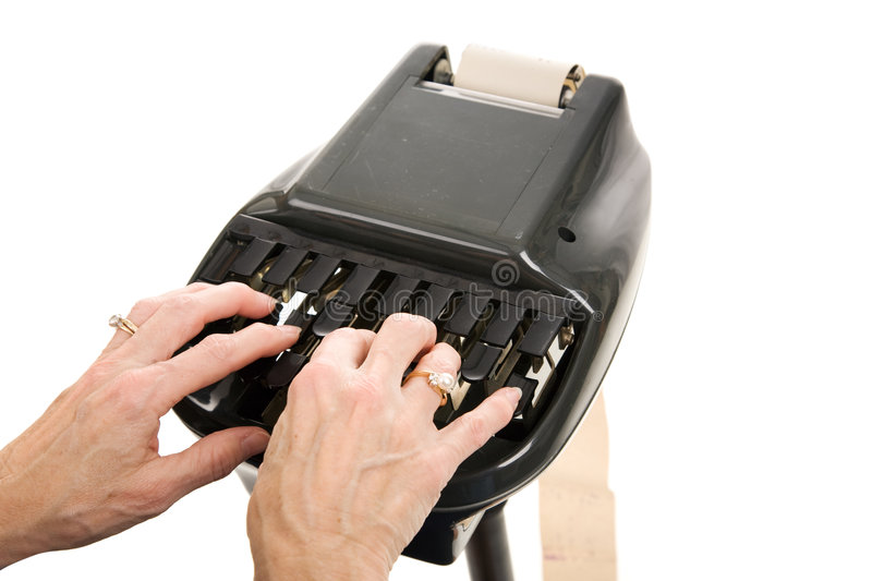 Download Court Reporting Stenograph stock photo. Image of tripod - 7224916