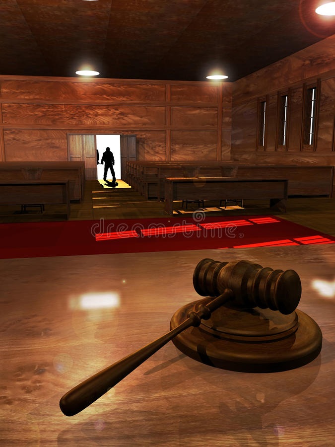 Download Court room stock illustration. Image of handcuffed, concept - 24899875