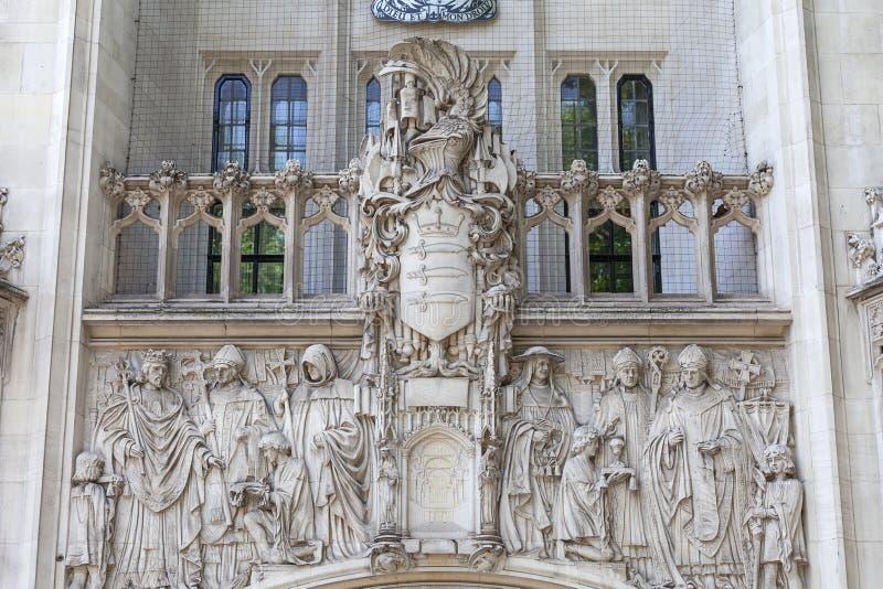 Court suprême bâtiment de palais de corporations de Royaume-Uni, Middlesex, Londres, Royaume-Uni photos stock