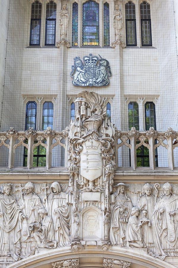 Court suprême bâtiment de palais de corporations de Royaume-Uni, Middlesex, Londres, Royaume-Uni photographie stock libre de droits