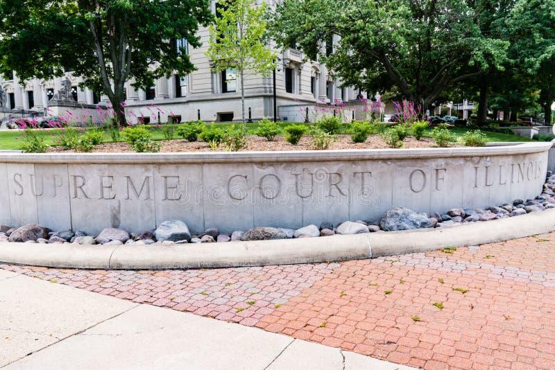 Court suprême de l'Illinois image stock